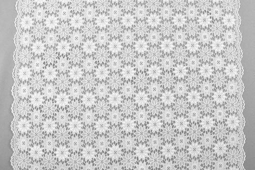 Spitzenfolie - Margarite - Weiß
