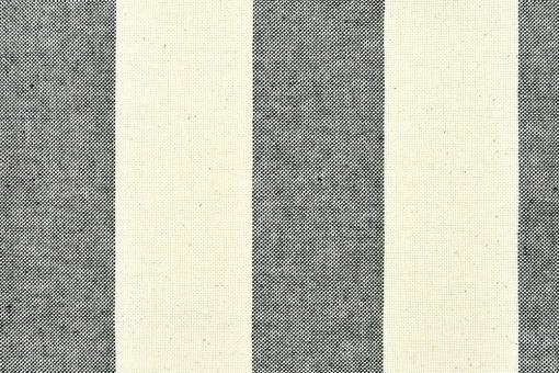 Segeltuch Basic - 280 cm - Blockstreifen - Schwarz