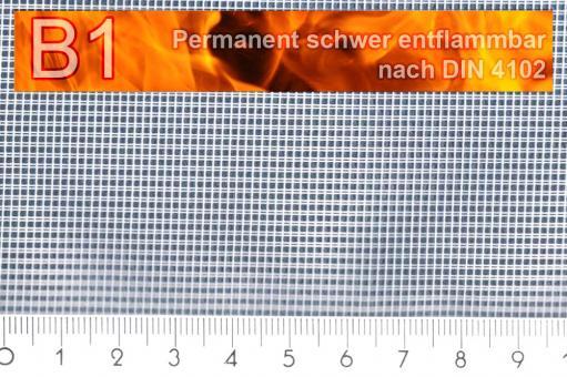 Moskitonetz mit Bleiband - permanent schwer entflammbar - 300 cm - Weiß