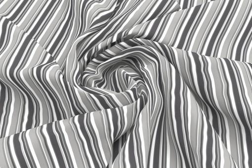 Wärmevorhang-Stoff - Multistreifen Grau