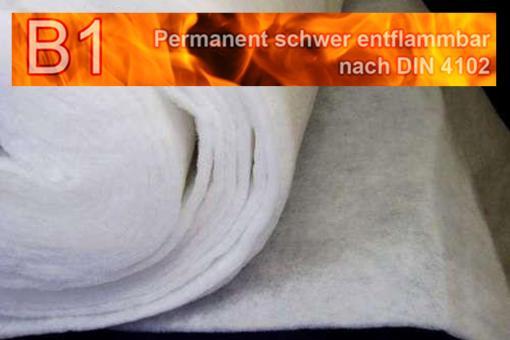 Volumen-Wattevlies 1 cm - permanent schwer entflammbar