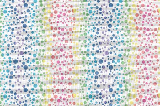 Anti-Moskito-Stoff - Regenbogen-Tupfen