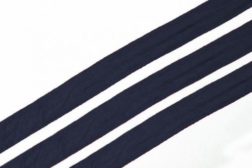 Baumwoll-Verstärkungsband - Fischgrat-Köper - 2,5 cm - Meterware Nachtblau