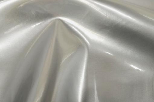 Lackleder-Imitat exklusiv - Bielastisch Silber Metallic