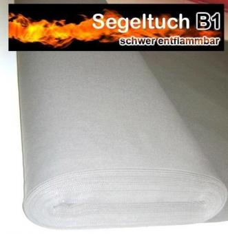 Fertig-Segeltuch schwer entflammbar - Rechteck - a: 240 x b: 55 cm - Grau