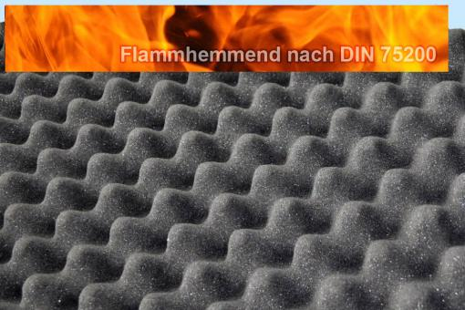 Akustik-Schaumstoff - flammhemmend - 10 cm dick - 206 x 100 cm