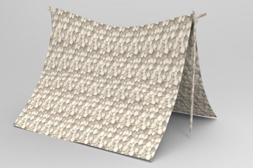 Planengewebe leicht - Kieselsteine