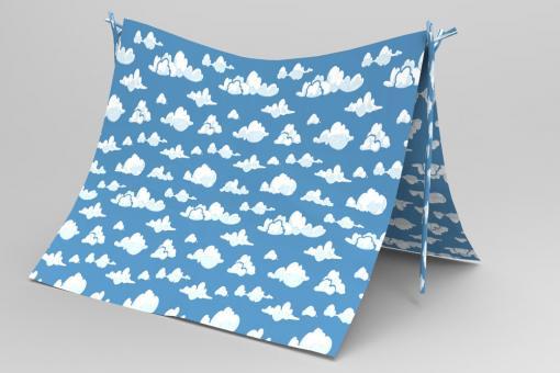 Planengewebe leicht - Wolkenhimmel