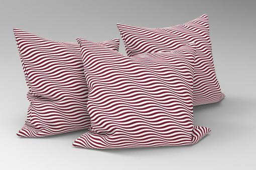 Wellen in 3D - Türvorhang-Stoff Braun