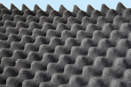Akustik-Schaumstoff - flammhemmend - 6,5 cm dick - 206 x 100 cm